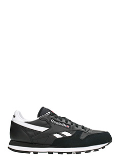 Reebok-Sneakers Classic TRC in pelle e camoscio nero