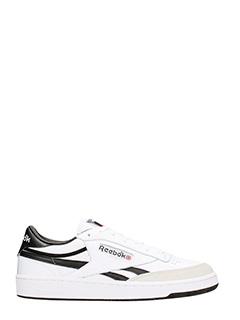 Reebok-Sneakers Revenge Plus TRC in pelle bianca