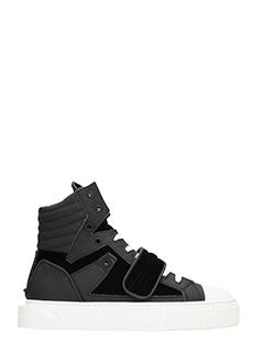 Gienchi-Sneakers Hypnos in gomma e velluto nero