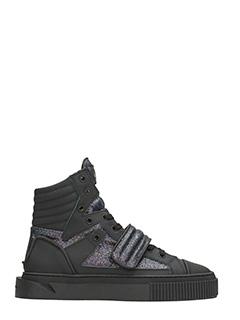 Gienchi-Sneakers Hypnos in gomma e glitter neri
