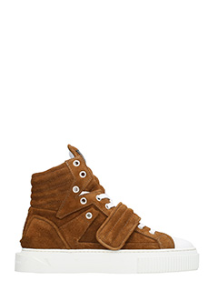 Gienchi-Sneakers Hypnos in pelle e camoscio cuoio