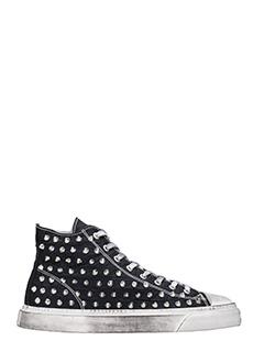 Gienchi-Sneakers Jean Michel Hi in tessuto nero