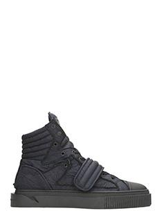 Gienchi-sneakers Hypnos tessuto bu e nero
