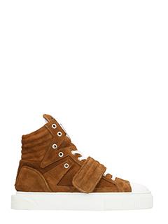 Gienchi-sneakers Hypnos in camoscio marrone