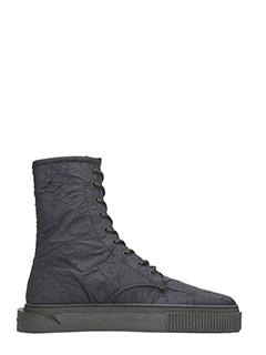 Gienchi-sneakers Derby polacco in tessuto nero
