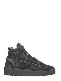Etq .-Sneakers High2 in nabuk nero