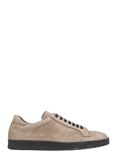 Andy Parker-Sneakers basse in camoscio beige