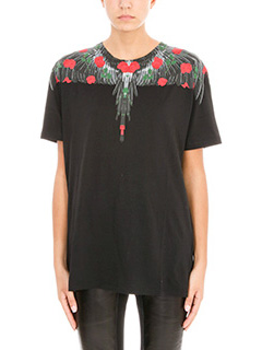 Marcelo Burlon-Lonco black cotton t-shirt