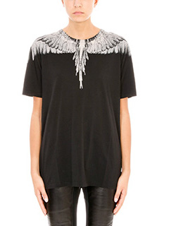 Marcelo Burlon-Mapu black cotton t-shirt