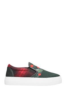 Marcelo Burlon-Sneakers Chekkar in tessuto nero