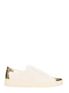 Michael Kors-Sneakers in pelle bianca e oro