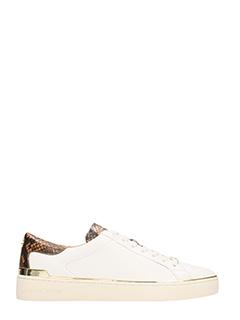 Michael Kors-Sneakers Kyle snea in pelle bianca