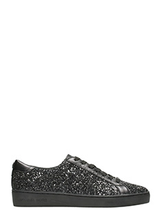 Michael Kors-Sneakers Irving in glitter nero