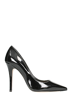 The Seller-Black patent leather pumps