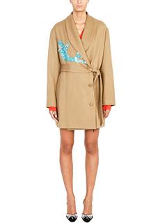 Attico-Cappotto corto in lana cammello