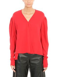 Magda Butrym-Blusa Camas in seta rossa
