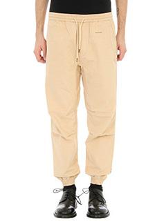Maharishi-Pantalone in cotone beige