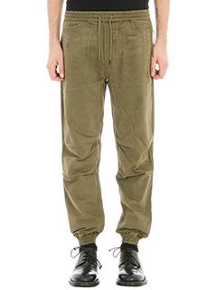 Maharishi-Pantalone in cotone verde militare