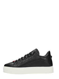 ... Dsquared 2 SNEAKERS 551 IN PELLE NERA 3 ...