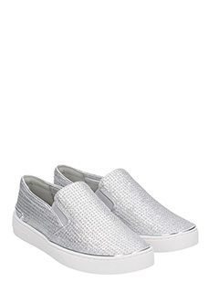 ... Michael Kors SNEAKERS SLIP ON IN PELLE ARGENTO 2 ...