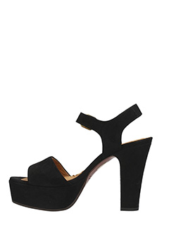 ... Chie Mihara SANDALI XARCO IN SUEDE NERO 3 ...