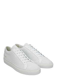 ... Common Projects SNEAKERS PERFORATED IN PELLE BIANCA 2 ...