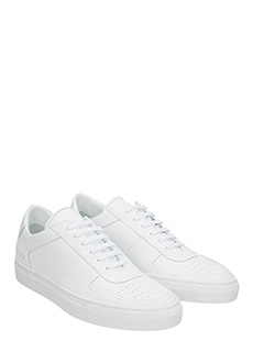 ... Common Projects SNEAKERS BBALL LOW IN PELLE BIANCA 2 ...